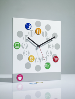 About Time Children's Wall Clock Silver