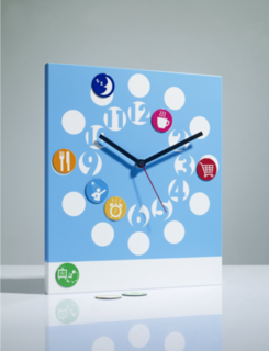 About Time Children's Clock Blue
