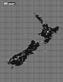 Pin City Map New Zealand - Black