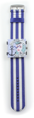 Striped Strap Blue