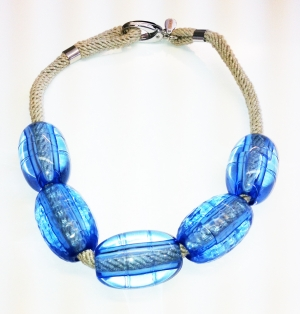 Necklace Blue Water