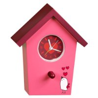 Bird House Alarm Clock  - Pink with character