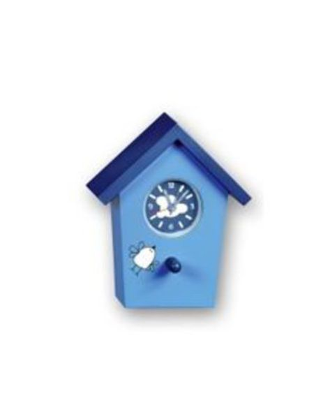 Bird House Alarm Clock - Blue with character